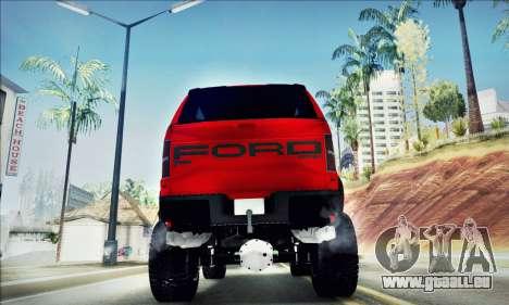 Ford F150 Raptor Long V12 pour GTA San Andreas vue intérieure