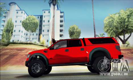 Ford F150 Raptor Long V12 pour GTA San Andreas laissé vue