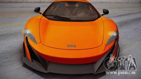 McLaren 675LT 2015 10-Spoke Wheels für GTA San Andreas zurück linke Ansicht
