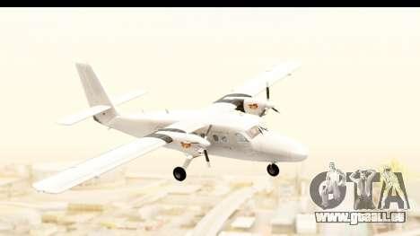DHC-6-400 All White für GTA San Andreas zurück linke Ansicht