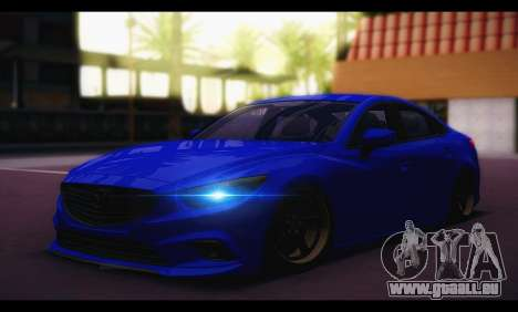 Mazda 6 Stance für GTA San Andreas zurück linke Ansicht