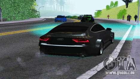 AUDI A7 SPORTSBACK pour GTA San Andreas sur la vue arrière gauche