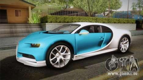 Bugatti Chiron 2017 v2.0 Korean Plate für GTA San Andreas Seitenansicht