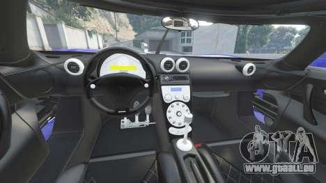 GTA 5 Koenigsegg CCX 2006 [Autovista] v2.0 [add-on] vorne rechts Seitenansicht
