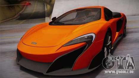 McLaren 675LT 2015 10-Spoke Wheels pour GTA San Andreas vue de côté