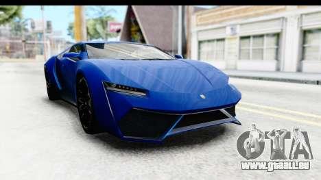 GTA 5 Pegassi Reaper SA Style pour GTA San Andreas sur la vue arrière gauche