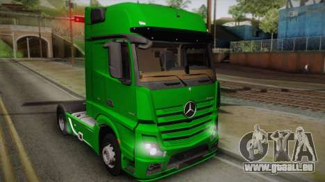 Mercedes-Benz Actros Mp4 4x2 v2.0 Gigaspace pour GTA San Andreas
