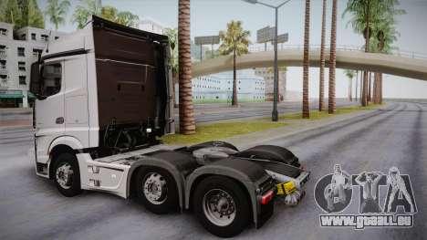 Mercedes-Benz Actros Mp4 6x2 v2.0 Steamspace pour GTA San Andreas laissé vue