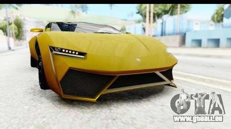 GTA 5 Pegassi Reaper IVF für GTA San Andreas Unteransicht
