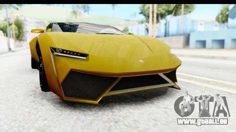 GTA 5 Pegassi Reaper IVF für GTA San Andreas obere Ansicht
