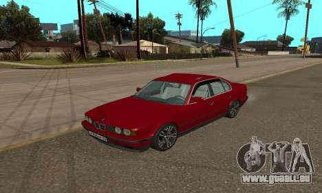 BMW 535i E34 pour GTA San Andreas sur la vue arrière gauche