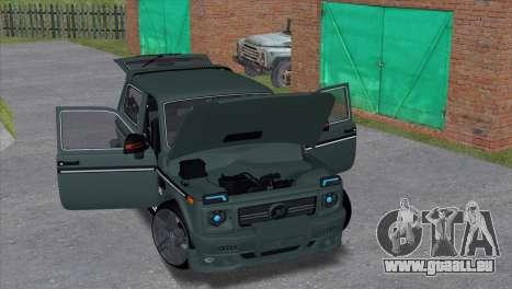 VAZ 2121 Tuning Hamman pour GTA San Andreas laissé vue