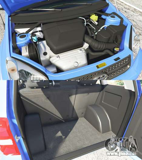 GTA 5 Toyota RAV4 (XA20) [replace] rechte Seitenansicht