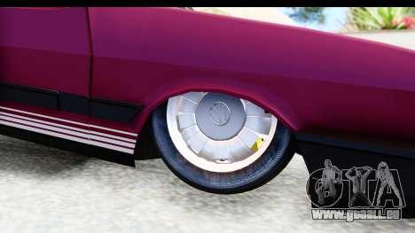 Volkswagen Passat Pointer GTS 1.8 1988 für GTA San Andreas Rückansicht