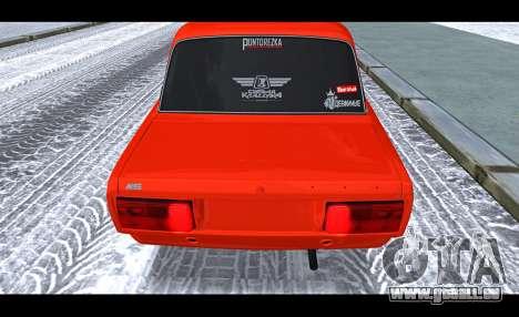 VAZ 2105 patch v3 pour GTA San Andreas vue arrière