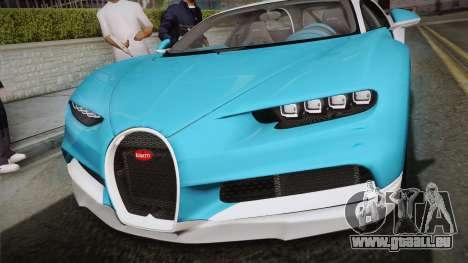 Bugatti Chiron 2017 v2.0 Korean Plate für GTA San Andreas rechten Ansicht