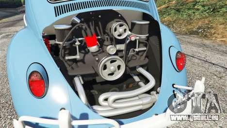 GTA 5 Volkswagen Fusca 1968 v0.9 [replace] droite vue latérale