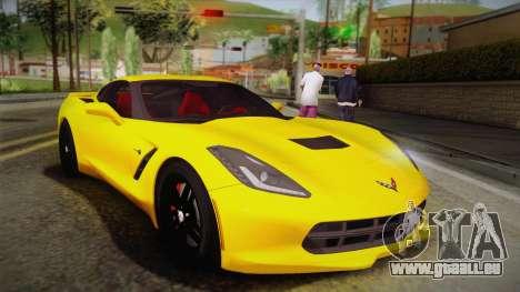 Chevrolet Corvette Stingray 2015 pour GTA San Andreas