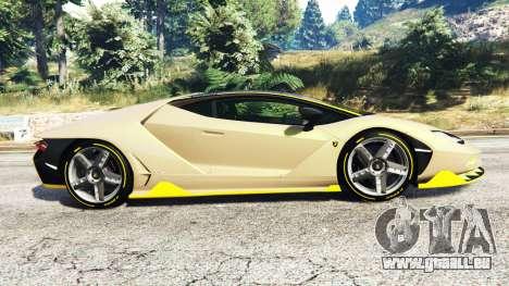 GTA 5 Lamborghini Centenario LP770-4 2017 [replace] linke Seitenansicht