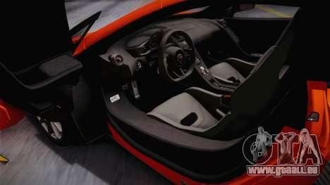 McLaren 675LT 2015 10-Spoke Wheels pour GTA San Andreas vue intérieure