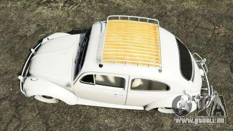 GTA 5 Volkswagen Fusca 1968 v1.0 [add-on] Rückansicht