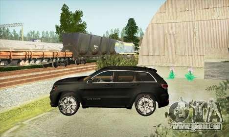 Jeep Cherokee SRT 8 pour GTA San Andreas vue de droite