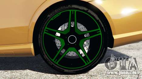 GTA 5 Mercedes-Benz E63 (W212) AMG 2010 [add-on] arrière droit vue de côté
