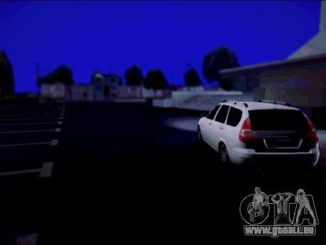 Lada 2171 pour GTA San Andreas sur la vue arrière gauche
