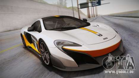 McLaren 675LT 2015 10-Spoke Wheels pour GTA San Andreas vue de dessous