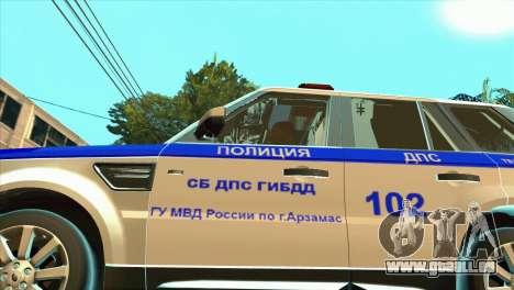 Range Rover Sport ДПС pour GTA San Andreas vue arrière