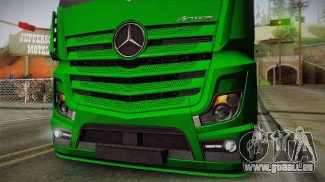 Mercedes-Benz Actros Mp4 4x2 v2.0 Gigaspace für GTA San Andreas Rückansicht