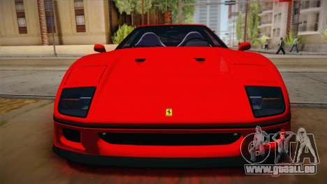Ferrari F40 (US-Spec) 1989 HQLM für GTA San Andreas rechten Ansicht