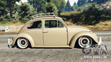 GTA 5 Volkswagen Fusca 1968 v0.8 [replace] linke Seitenansicht