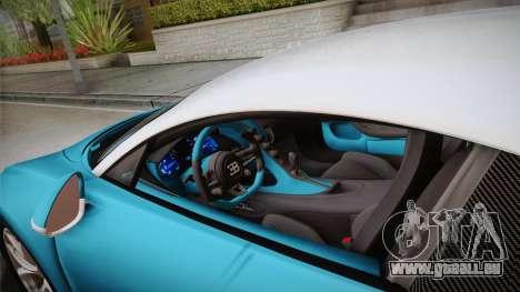 Bugatti Chiron 2017 v2.0 Korean Plate pour GTA San Andreas vue intérieure