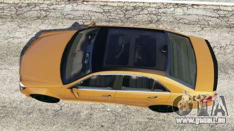 GTA 5 Mercedes-Benz E63 (W212) AMG 2010 [add-on] vue arrière