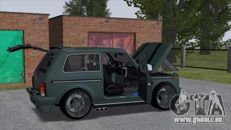 VAZ 2121 Tuning Hamman pour GTA San Andreas sur la vue arrière gauche