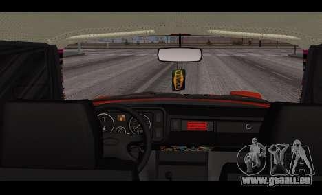 VAZ 2105 patch v3 pour GTA San Andreas sur la vue arrière gauche