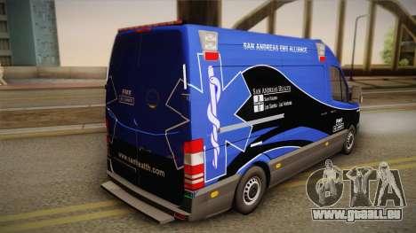 Mercedes-Benz Sprinter 2012 Midwest Ambulance für GTA San Andreas linke Ansicht