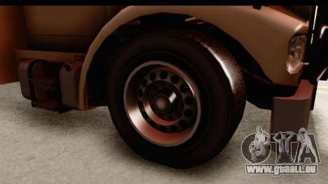 GTA 4 Vapid Benson pour GTA San Andreas vue arrière