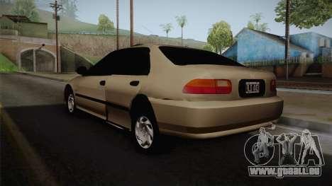 Honda Civic Sedan EX 1993 pour GTA San Andreas laissé vue