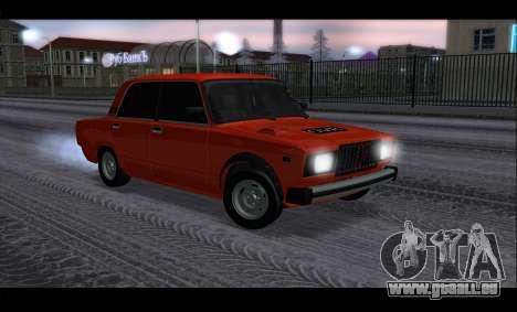 VAZ 2105 patch v3 pour GTA San Andreas vue intérieure