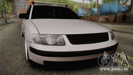 Volkswagen Passat 2.0 TDI pour GTA San Andreas sur la vue arrière gauche