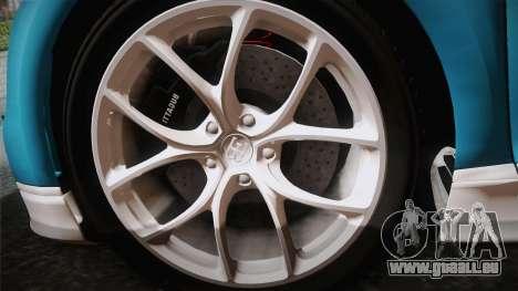 Bugatti Chiron 2017 v2.0 Korean Plate pour GTA San Andreas sur la vue arrière gauche