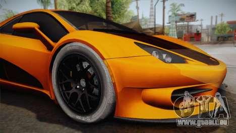 HTT Plethore LC750 2012 pour GTA San Andreas vue arrière