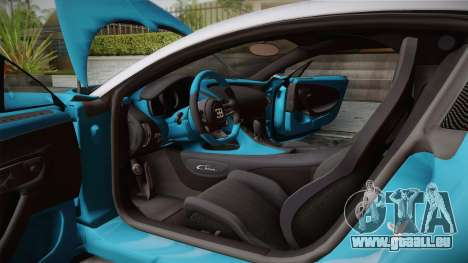Bugatti Chiron 2017 v2.0 Korean Plate pour GTA San Andreas vue de dessous