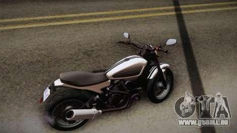 GTA 5 Pegassi Esskey PJ3 pour GTA San Andreas sur la vue arrière gauche