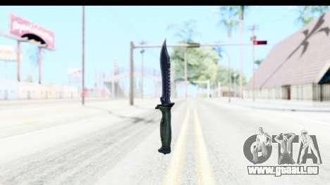 CS:GO - Bowie Knife für GTA San Andreas zweiten Screenshot