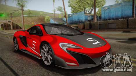McLaren 675LT 2015 10-Spoke Wheels pour GTA San Andreas moteur