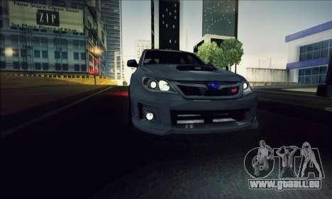 Subaru Impreza WRX STI 2011 für GTA San Andreas Rückansicht