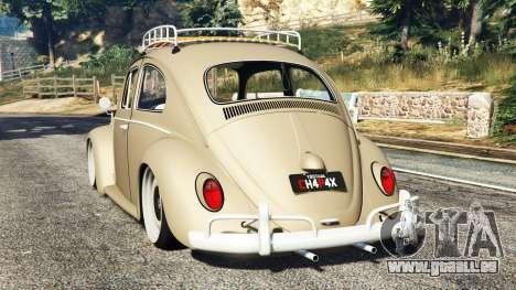 GTA 5 Volkswagen Fusca 1968 v0.8 [replace] hinten links Seitenansicht